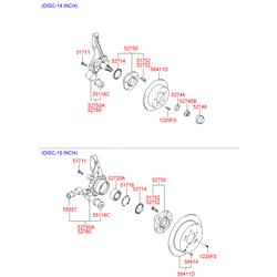 Чулок заднего моста (Hyundai-KIA) 527502E000