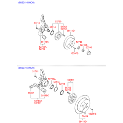 Чулок заднего моста (Hyundai-KIA) 527502E500