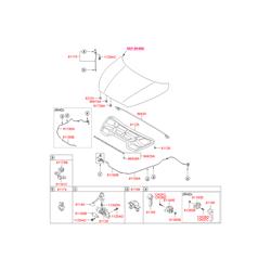 Шумоизоляция капота (Hyundai-KIA) 811252S000