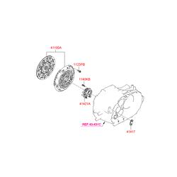 Комплект сцепления (Hyundai-KIA) 4120024410