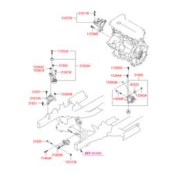 Кронштейн кузовной (Hyundai-KIA) 219502S000