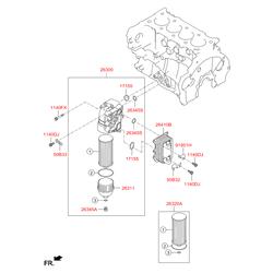 Уплотнительное кольцо масляного фильтра двигателя (Hyundai-KIA) 263162F000