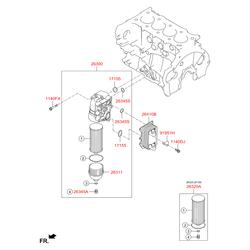 Уплотнительное кольцо масляного фильтра двигателя (Hyundai-KIA) 263162F001
