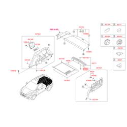 Выдвижная шторка багажного отсека на роликах (Hyundai-KIA) 859102S0009P