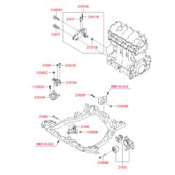 Подушка двигателя (Hyundai-KIA) 219102E300