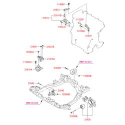 Подушка двигателя (Hyundai-KIA) 218102E000