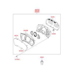 Щиток приборов в сборе (спидометры и тахометры) (Hyundai-KIA) 940132E780