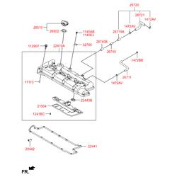 Клапанная крышка (Hyundai-KIA) 2241023100