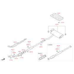 Каталитический нейтрализатор выхлопных газов (Hyundai-KIA) 289602G870