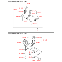 Обратный клапан рециркуляции выхлопных газов (Hyundai-KIA) 351222A250