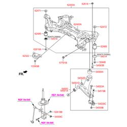 Втулка подвески (Hyundai-KIA) 54551A4000