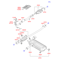 Выхлопная труба (Hyundai-KIA) 286502E120