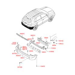 Накладка порога (Hyundai-KIA) 866452E000