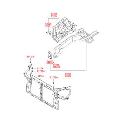Рамка радиатора (Hyundai-KIA) 641012E001