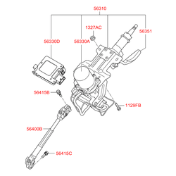 Рулевая колонка (Hyundai-KIA) 563102S211