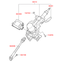 Рулевая колонка (Hyundai-KIA) 563102S810