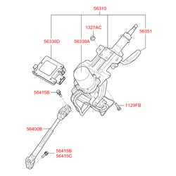 Рулевые колонки (Hyundai-KIA) 563103U512