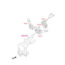 Кольцевая контактная группа рулевой колонки (Hyundai-KIA) 934902K310