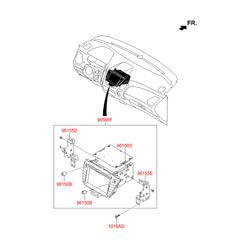Автомагнитола в сборе (RADIO+CD+MP3) С RDS (Hyundai-KIA) 965652Y600