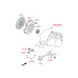 Диск сцепления (Hyundai-KIA) 4110026400