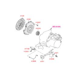 Диск сцепления (Hyundai-KIA) 4110026100