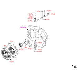 Диск сцепления (Hyundai-KIA) 4110039310