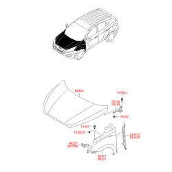 Крыло переднее (Hyundai-KIA) 663112S000
