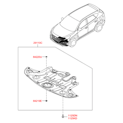 Защитная передняя панель моторного отсека (Hyundai-KIA) 29110D7500