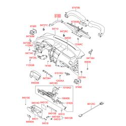 Металлическая накладка перчаточного ящика (Hyundai-KIA) 845152E000