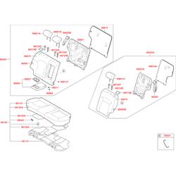 Накладка замка спинки заднего сиденья (Hyundai-KIA) 893932Y0009P