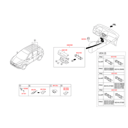 Панель управления отопителем салона (Hyundai-KIA) 933102SEA0TAN