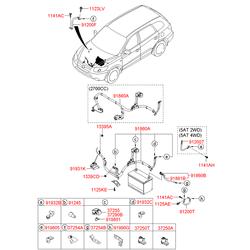Контактный элемент проводки аккумулятора (Hyundai-KIA) 372502B100
