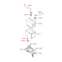 Контактный элемент проводки аккумулятора (Hyundai-KIA) 372502E100