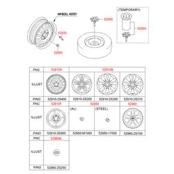 Колпак колеса (Hyundai-KIA) 529602S100