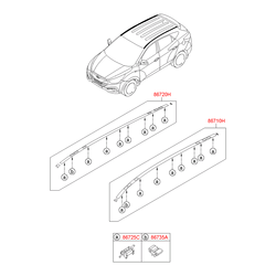 Молдинг крыши (Hyundai-KIA) 872302S001
