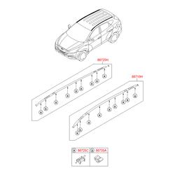 Молдинг крыши (Hyundai-KIA) 872402S001