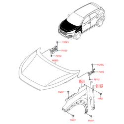 Панель капота (Hyundai-KIA) 66400D7000
