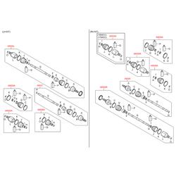 Привод колеса (Hyundai-KIA) 495002Y010