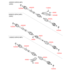 Привод колеса (Hyundai-KIA) 495002Y100