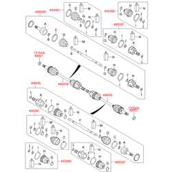 Пыльник шруса (Hyundai-KIA) 495952Y600