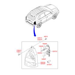 Фонарь задний (Hyundai-KIA) 924102E010