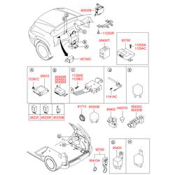 Блок управления противоугонной системой (Hyundai-KIA) 95420H1000