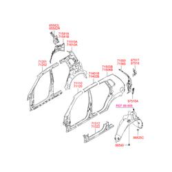 Панель заднего правого крыла внутренняя (Hyundai-KIA) 716602E010