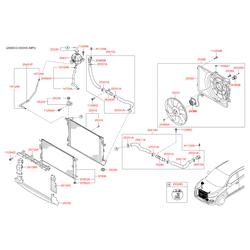 Расширительный бачок системы охлаждения (Hyundai-KIA) 25431D3600