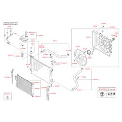 Расширительный бачок системы охлаждения (Hyundai-KIA) 254302S000