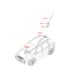 Опора антенны с контактными элементами (Hyundai-KIA) 962502E650
