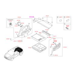 Внутренняя панель багажного отсека (Hyundai-KIA) 857402Y1009P