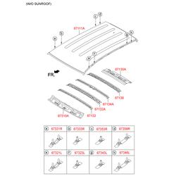 Панель крыши (Hyundai-KIA) 671112S000