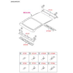 Панель крыши (Hyundai-KIA) 671112Y050