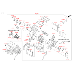 Привод заслонки отопителя салона 10ВТ (Hyundai-KIA) 971543Z000